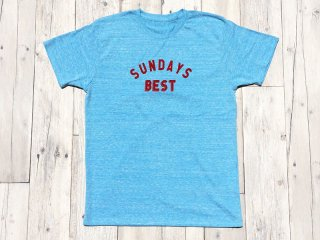 SUNDAYS BEST [サンデイズ ベスト] LOGO TEE/HEATHER BLUE
