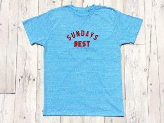 SUNDAYS BEST [サンデイズ ベスト] LOGO TEE/HEATHER BLUE