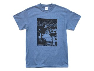 DISCHORD RECORDS [ディスコード レコード] 1ST DISCHORD SHIRT TEE/HEATHER INDIGO
