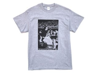 DISCHORD RECORDS [ディスコード レコード] 1ST DISCHORD SHIRT TEE/HEATHER GREY