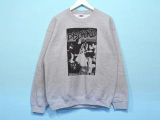 DISCHORD RECORDS [ディスコード レコード] 1ST DISCHORD SHIRT CREWNECK SWEAT/HEATHER GREY