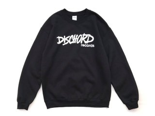 DISCHORD RECORDS [ディスコード レコード] OLD DISCHORD LOGO CREWNECK SWEAT/BLACK