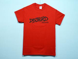 DISCHORD RECORDS [ディスコード レコード] OLD DISCHORD LOGO TEE/CARDINAL RED