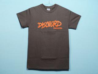 DISCHORD RECORDS [ディスコード レコード] OLD DISCHORD LOGO TEE/CHARCOALxRED