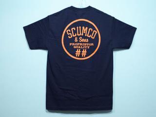 SCUMCO&SONS [スカムコアンドサンズ] NAVAL ORANGE TEE/NAVY