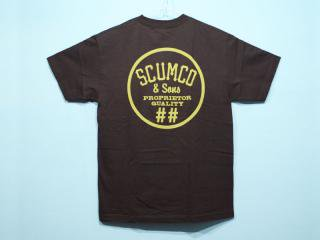 SCUMCO&SONS [スカムコアンドサンズ] ASPHALT COMMODORE TEE/CHARCOAL