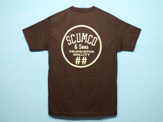 SCUMCO&SONS [スカムコアンドサンズ] CHIP CHOCOLATE MINT TEE/CHOCOLATE