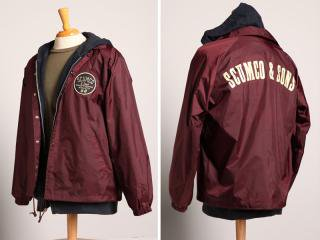 SCUMCO&SONS [スカムコアンドサンズ] WINDBREAKERS COACH JACKET/BURGUNDY