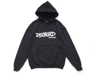 DISCHORD RECORDS [ディスコード レコード] OLD DISCHORD LOGO HOODED SWEAT/BLACKxWHITE