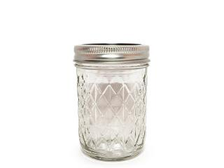 Ball Mason Jar [ボール メイソンジャー] Regular Mouth Quilted Crystal Jelly Jar 8oz