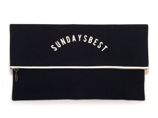 SUNDAYS BEST [サンデイズ ベスト] CLUTCH BAG/BLACKxWHITE