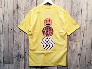 QUARTER SNACKS [クウォータースナックス]  SNACKMAN TEE/YELLOW