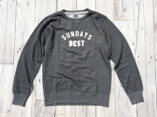 SUNDAYS BEST [サンデイズ ベスト] LOGO CREW NECK SWEAT/H.GREY