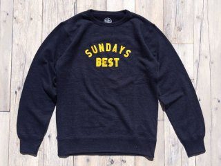 SUNDAYS BEST [サンデイズ ベスト] LOGO CREW NECK SWEAT/H.NAVY