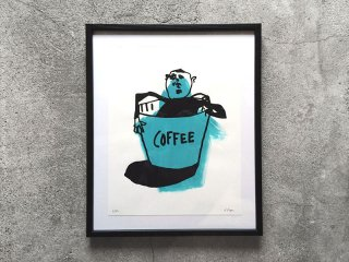 THE THURSDAYMAN [サースデイマン] Coffee Print