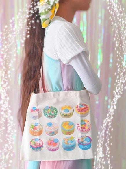 サコッシュ(肩掛けバッグ)+絵本『秘密の空想菓子店』 【送料無料】【著者サイン入り】