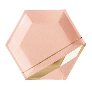 <br>HARLOW & GREY<br>六角形 パーティープレート(大) ブラッシュカラー