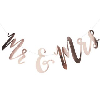 <BR>GINGER RAY <br>Mr & Mrs フォイルガーランド ローズゴールド