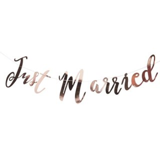 <BR>GINGER RAY <br>Just Married フォイルガーランド ローズゴールド