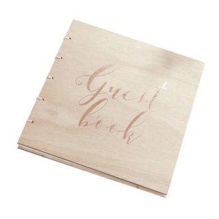 <BR>GINGER RAY <br>木製ゲストブック ローズゴールド