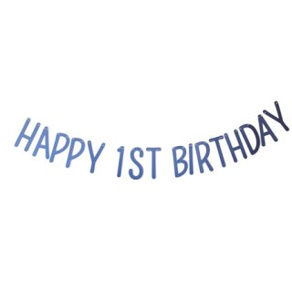 <img class='new_mark_img1' src='//img.shop-pro.jp/img/new/icons8.gif' style='border:none;display:inline;margin:0px;padding:0px;width:auto;' /><br>BRACKET <br>HAPPY 1ST BIRTHDAY パーティーバナー メタリックブルー