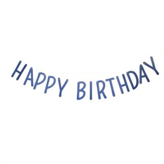 <img class='new_mark_img1' src='//img.shop-pro.jp/img/new/icons8.gif' style='border:none;display:inline;margin:0px;padding:0px;width:auto;' /><br>BRACKET <br>HAPPY BIRTHDAY パーティーバナー メタリックブルー