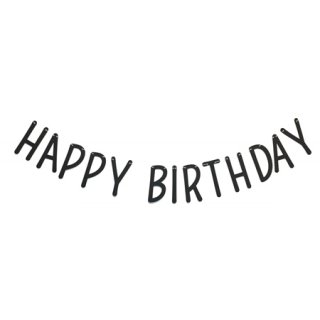 <img class='new_mark_img1' src='//img.shop-pro.jp/img/new/icons8.gif' style='border:none;display:inline;margin:0px;padding:0px;width:auto;' /><br>BRACKET <br>HAPPY BIRTHDAY パーティーバナー ブラック