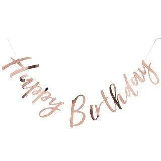 残り1点!!!<br> GINGER RAY <br>HAPPY BIRTHDAY バナー ローズゴールド