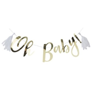 <br> GINGER RAY <br>Oh Baby! レターバナー - ゴールド