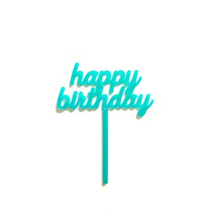 <img class='new_mark_img1' src='//img.shop-pro.jp/img/new/icons8.gif' style='border:none;display:inline;margin:0px;padding:0px;width:auto;' /><br>HAPPY BIRTHDAY ケーキトッパー - アクア