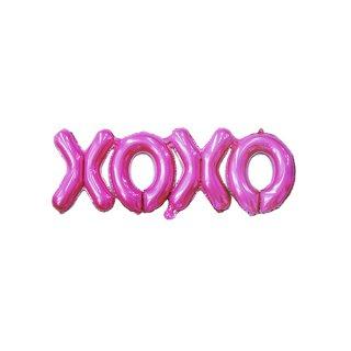 残り1点!<br>XOXO ホイル レターバルーン <br>ダークピンク