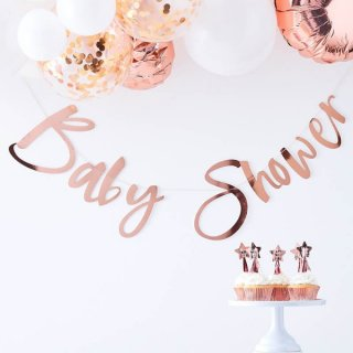 <img class='new_mark_img1' src='https://img.shop-pro.jp/img/new/icons11.gif' style='border:none;display:inline;margin:0px;padding:0px;width:auto;' /><br> GINGER RAY <br>Baby Shower レターバナー - ローズゴールド