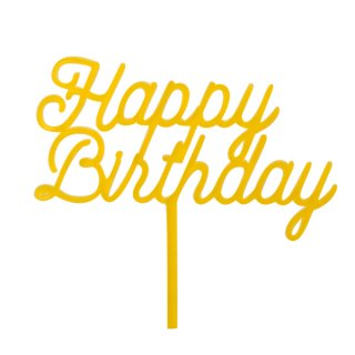 <img class='new_mark_img1' src='//img.shop-pro.jp/img/new/icons11.gif' style='border:none;display:inline;margin:0px;padding:0px;width:auto;' /><br>BRACKET <br>HAPPY BIRTHDAY トリートトッパー・イエロー