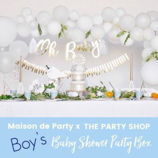 <img class='new_mark_img1' src='https://img.shop-pro.jp/img/new/icons11.gif' style='border:none;display:inline;margin:0px;padding:0px;width:auto;' /><br>Maison de Party x THE PARTY SHOP コラボ ベビーシャワー Party Box - Boy