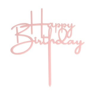 <img class='new_mark_img1' src='https://img.shop-pro.jp/img/new/icons11.gif' style='border:none;display:inline;margin:0px;padding:0px;width:auto;' /><br>HAPPY BIRTHDAYアクリル製ケーキトッパー・パステルピンク