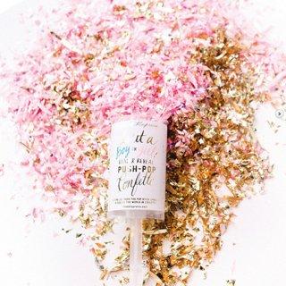 <br>Thimblepress <br>プッシュポップ コンフェッティ ピンク (女の子用)<br>IT'S A GIRL PUSH-POP CONFETTI™