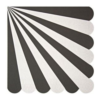 <img class='new_mark_img1' src='https://img.shop-pro.jp/img/new/icons21.gif' style='border:none;display:inline;margin:0px;padding:0px;width:auto;' />28%OFF!!! <br>Meri Meri{TOOT SWEET}<br>ブラックストライプ ペーパーナプキン(大)<br>BLACK STRIPES LARGE