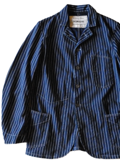 <img class='new_mark_img1' src='//img.shop-pro.jp/img/new/icons15.gif' style='border:none;display:inline;margin:0px;padding:0px;width:auto;' />Workers/ワーカーズ   Sack Coat  Indigo Discharge Print  Double Dot