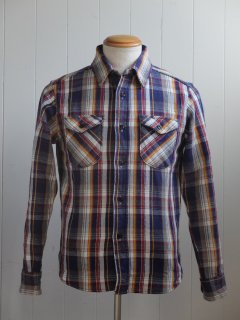 <img class='new_mark_img1' src='//img.shop-pro.jp/img/new/icons15.gif' style='border:none;display:inline;margin:0px;padding:0px;width:auto;' />UES/ウエス『Heavy Flannel Shirt/ヘビーネルシャツ』NAVYネイビー 2019AW