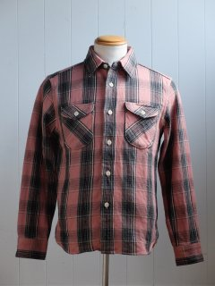 <img class='new_mark_img1' src='//img.shop-pro.jp/img/new/icons15.gif' style='border:none;display:inline;margin:0px;padding:0px;width:auto;' />UES/ウエス『Heavy Flannel Shirt/ヘビーネルシャツ』PINKピンク 2019AW