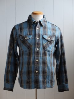 <img class='new_mark_img1' src='//img.shop-pro.jp/img/new/icons15.gif' style='border:none;display:inline;margin:0px;padding:0px;width:auto;' />UES/ウエス『Heavy Flannel Shirt/ヘビーネルシャツ』BLUEブルー 2019AW