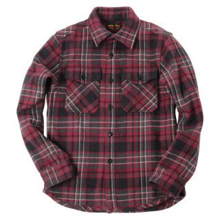 <img class='new_mark_img1' src='https://img.shop-pro.jp/img/new/icons15.gif' style='border:none;display:inline;margin:0px;padding:0px;width:auto;' />UES/ウエス『Extra Heavy Flannel Shirt/エクストラヘビーネルシャツ』エクストラヘビーネルシャツ BLACKブラック 2019AW
