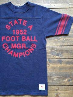 <img class='new_mark_img1' src='https://img.shop-pro.jp/img/new/icons15.gif' style='border:none;display:inline;margin:0px;padding:0px;width:auto;' />UESウエス『1952 FOOTBALL』フットボールTシャツ ブルー メール便可