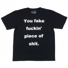 "BLUTH SKATEBOARDS ""You Fake Fuckin Piece of shit."" TEE -MADSAKI design-"