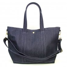 <img class='new_mark_img1' src='http://store.candyrim.com/img/new/icons14.gif' style='border:none;display:inline;margin:0px;padding:0px;width:auto;' />TRAD MARKS 2WAY DENIM RIDE TOTE BAG -katanokaban made-