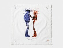 "AKA SIX simon barker × FRAGMENT DESIGN ""DEAD COWBOYS HANDKERCHIEF"""