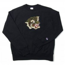 LOOKER CAMO TIGER SWEAT -black-