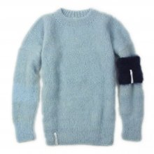 "AKA SIX simon barker × FRAGMENT DESIGN ""MOHAIR JUMPER"" -silver blue-"