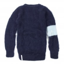 "AKA SIX simon barker × FRAGMENT DESIGN ""MOHAIR JUMPER"" -navy-"