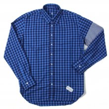 "AKA SIX simon barker × FRAGMENT DESIGN ""CLASSIC LONG SLEEVE SHIRT"" -blue check-"